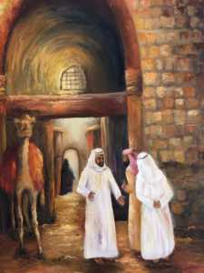Bargaining | Realistic Painting by Shyamala Venkatesh | Buy Affordable Original Art Online Dubai UAE | Paintings | Art Rentals | Art Prints | Sell International Arts Online - Art Smiley