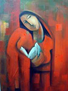 Where Peace | Figurative Painting by Nizar AlHattab | Buy Affordable Original Art Online Dubai UAE | Paintings | Art Rentals | Art Prints | Sell International Arts Online