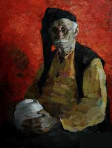 old man with jug
