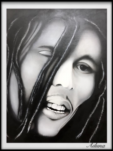 One Love | Figurative Portrait Painting by Rafael Aduna | Buy Affordable Original Art Online Dubai UAE | Paintings | Art Rentals | Paintings Online Sale | UAE Paintings for Sale | Contemporary Art for Sale Online UAE | Original Art for Sale | Art for Sale | Art Prints | Sell International Arts Online - Art Smiley