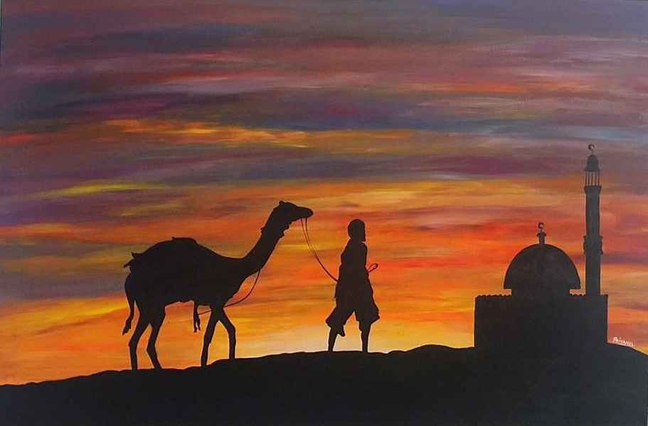 Desert Camel sunset Silhouette - Buy Affordable Original ...
