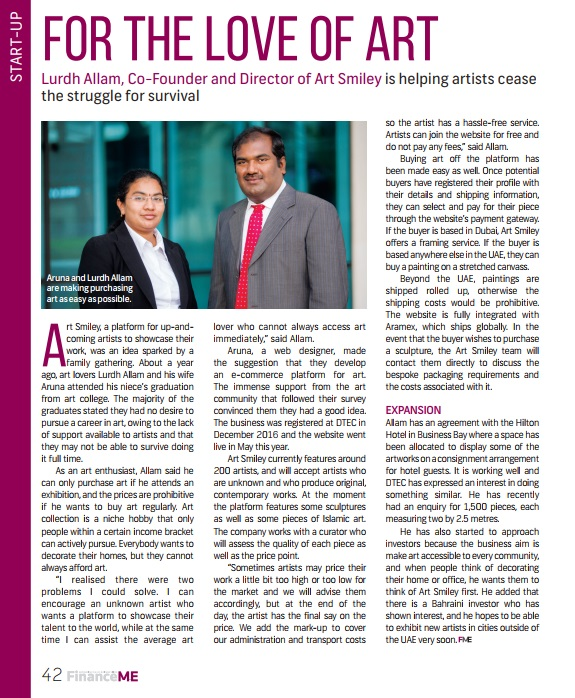 Financeme Magazine- ArtSmiley interview