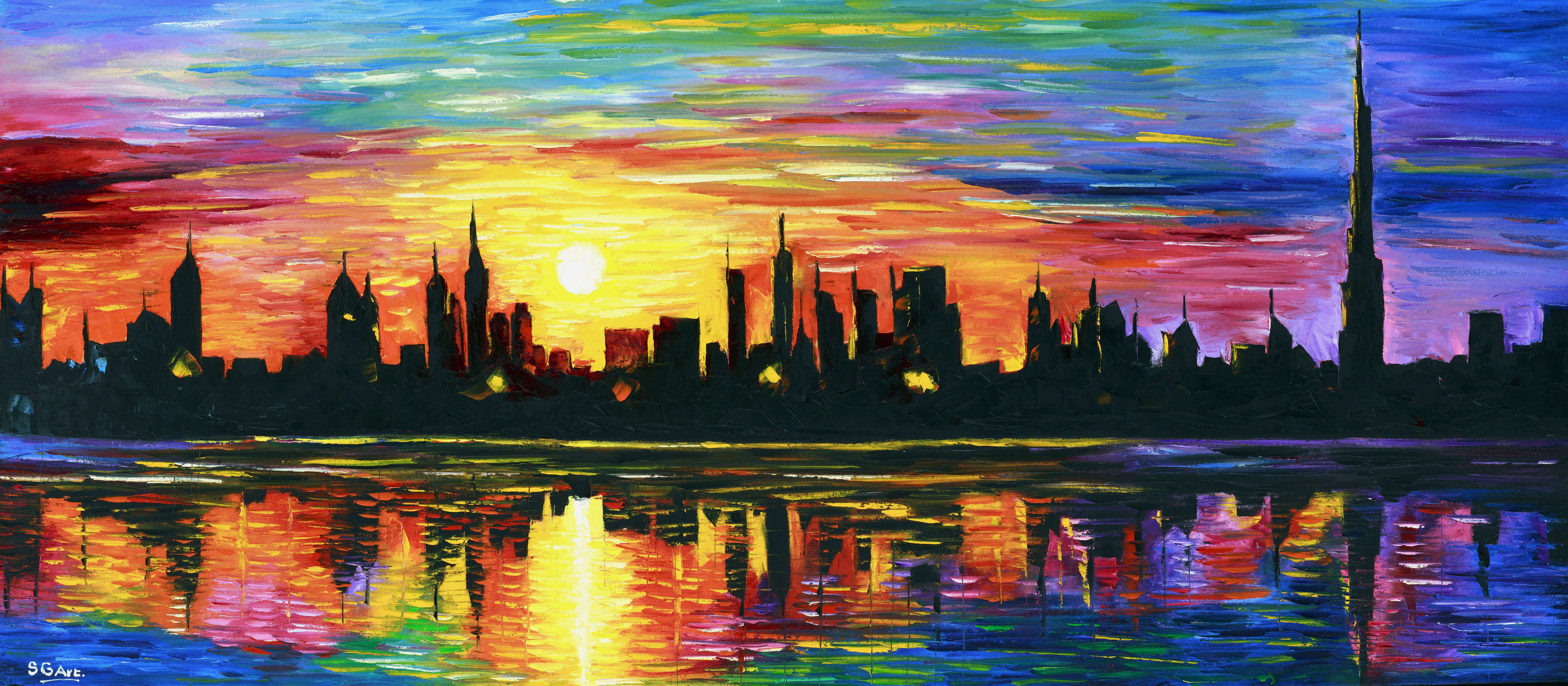 City Skyline Paint By Number
