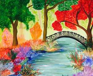 Spring Bridge - Acrylic on Canvas