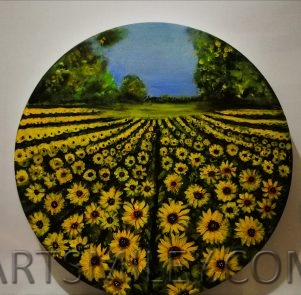 Sun flower 3D artwork