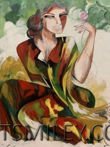 Lady in abstract