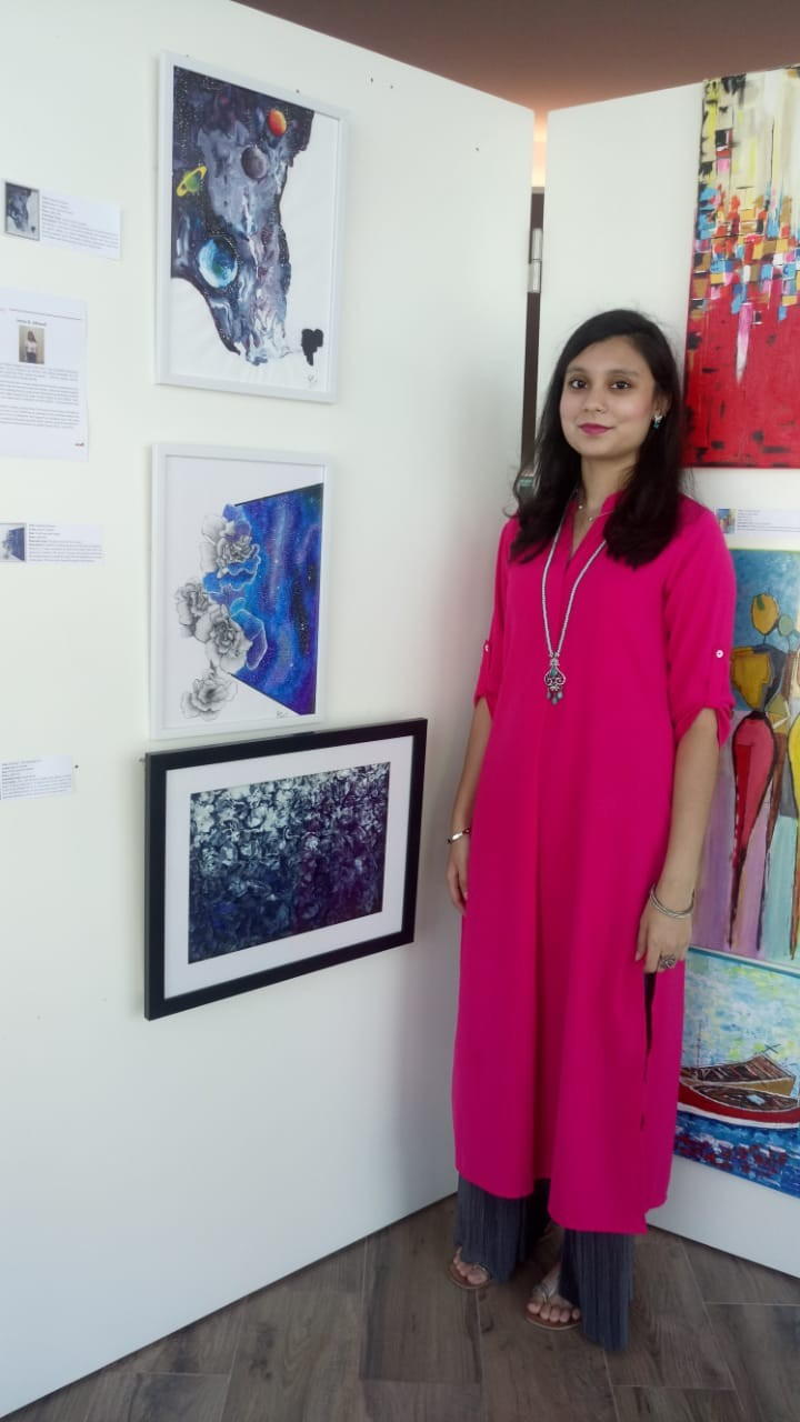 Iram at Art Smiley Exhibtion