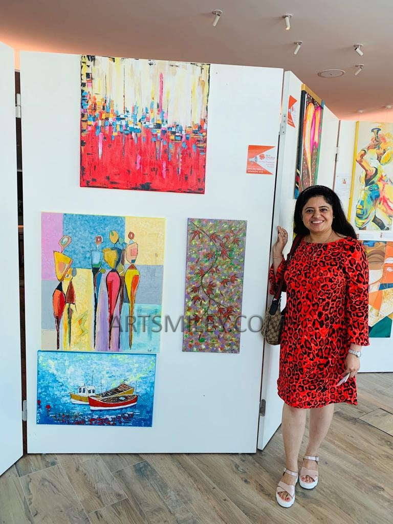 Ravneet Sodhi at Art Smiley exhibtion