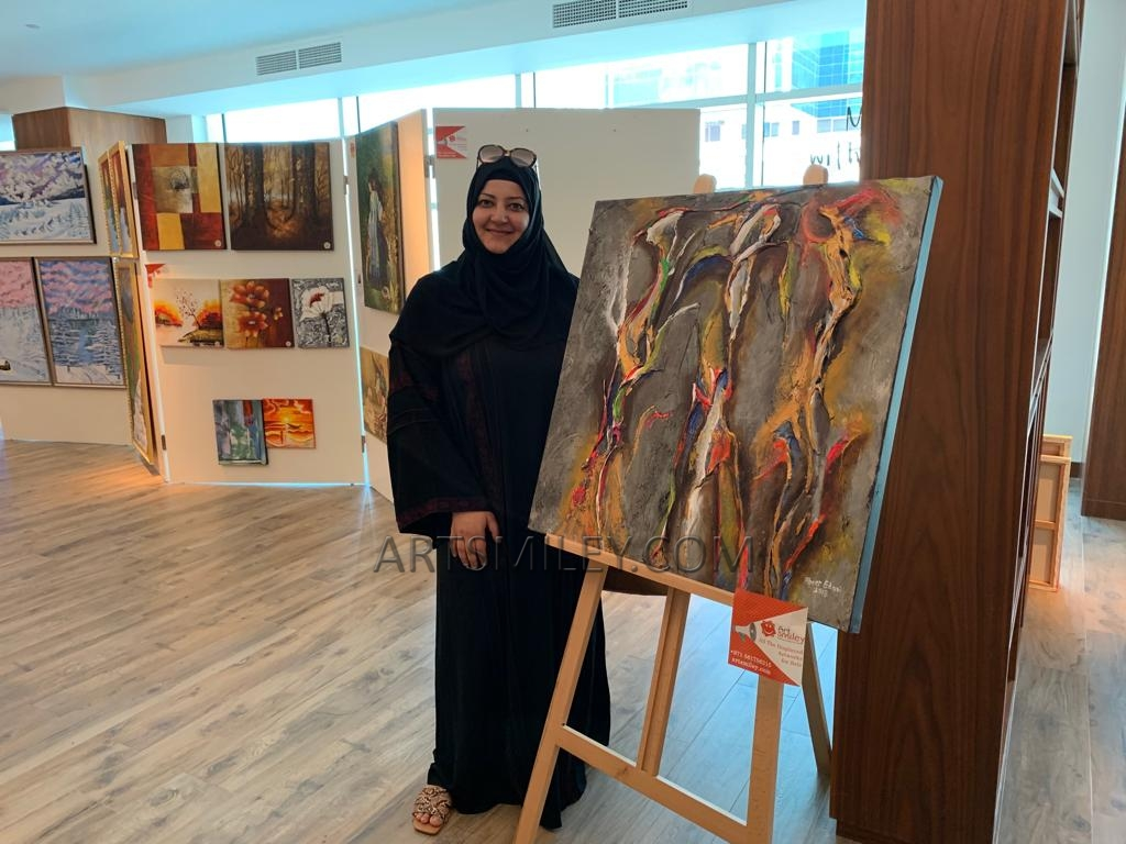 Abeer at Art Smiley Exhibition