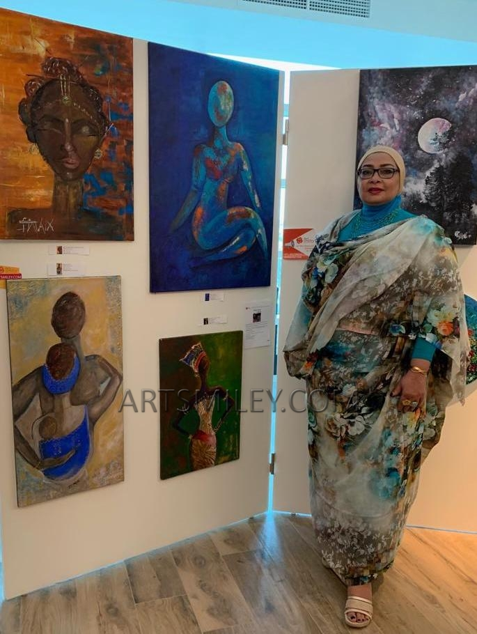 Eiman Yousif participation at Art Smiley Contemporary Art Exhibition in October 2019.
